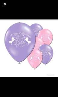 Happy birthday unicorn latex