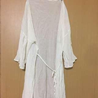 🚚 防曬 白色 罩衫