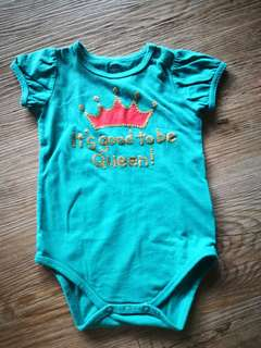 Emerald Green Baby Girl Romper