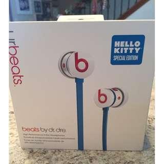 魔聲Beats URBEATS 入耳式耳機 hellokitty 手機線控帶麥重低音耳塞式 降噪耳機 禮