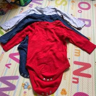 🚚 Preloved Long Sleeves Bodysuit (3 pcs)