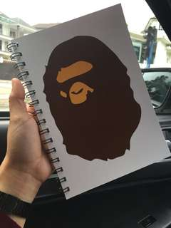 BAPE note book
