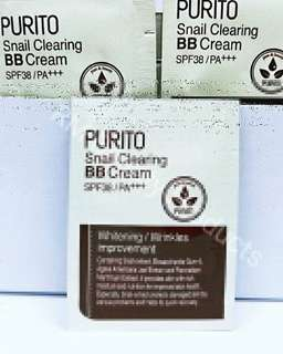 Purito Snail Clearing BB Cream SPF38/PA++ #21 Light Beige Sample