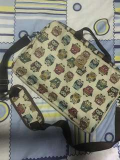 Owl Laptop Bag w/ Shoulder Strap
