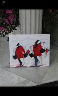 Lukisan painting 50 x 50