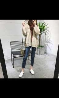 PREORDER Casual Plain Cardigan Outerwear