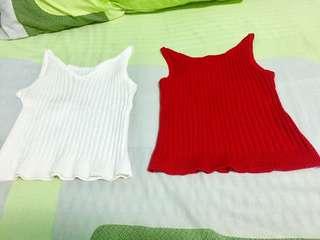 White and red croptop
