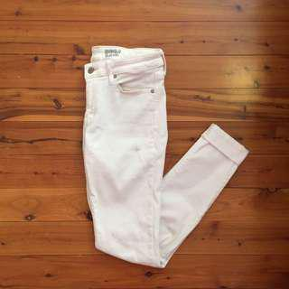 Uniqlo White Jeans