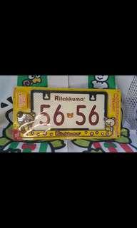 Rilakuma plate number case