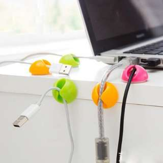 Cable Wire Organizer Cable Clip Tidy USB Charger Cord Holder desktop Fixed clamp Cable winder