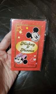 全新 Disney Mickey & Minnie 利是封一包 (10個封連10個金色米奇頭貼紙)