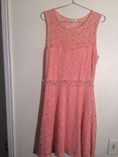 Garage lace fit and flare dress grad dress