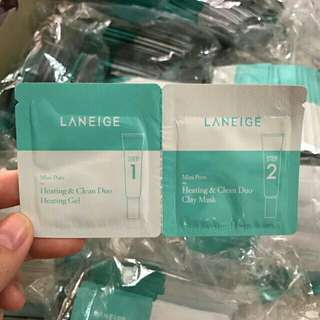 Laneige Mini Pore Heating & Clean Duo Clay Mask Sample Sachet