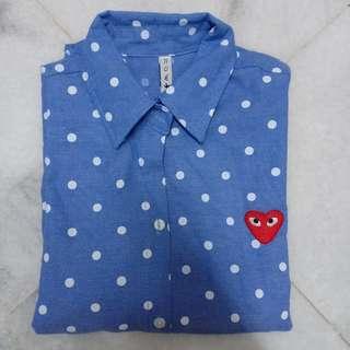 Polka dot outerwear
