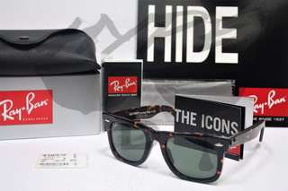 Authentic Ray Ban Wayfarer Classic RB2140 902 Tortoise 50MM Medium Asian Fit.
