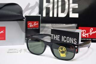 Authentic Ray Ban New Wayfarer RB2132 901 55MM .