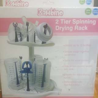 2 tier spinning drying rack