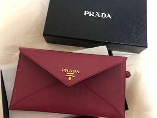 Prada 銀包 100%new and real