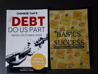 2 Books - Basics of Success & Till Debt Do Us Part (Inspirational)