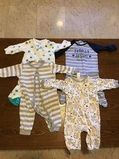 Sleepsuits full length for 3 months old