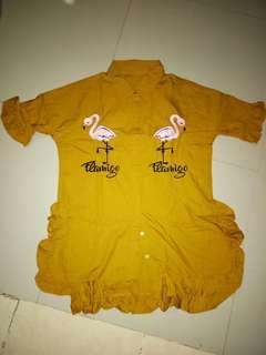 Flamingo Collar Shirt