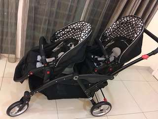 Contours Options LT Tandem Twin Stroller