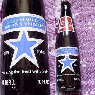 95年美國Star Market 75th Anniversary可口可樂玻璃樽一枝