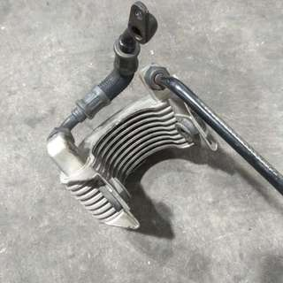 Honda XR400 Oil Cooler Assembly