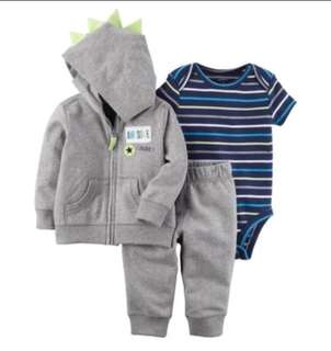 🚚 *9M* Brand New Carter's 3-Piece Little Jacket Set For Baby Boy
