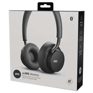 JAYS u-JAYS Headphones for iOS, Black on black (2017 edition)