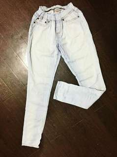 Straight-Cut Faded Jeans