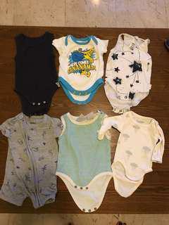 Bundle of baby onesies