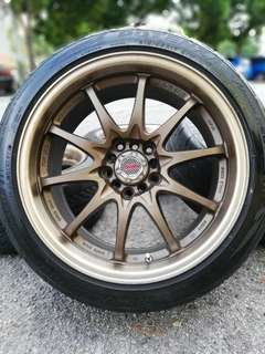 Ce28 17 inch sports rim civic fb tyre 70%