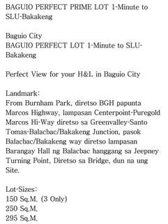 bakakeng baguio city lot for sale