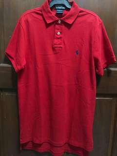 RL Polo Shirt Red Custom Fit Size Small