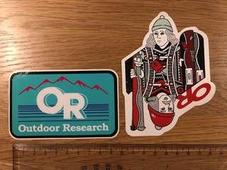 🚚 Outdoor Research USA original vinyl stickers