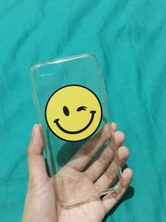 Wink Emoji clear silicon case for 6s+