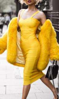 Jeana yellow bandage dress