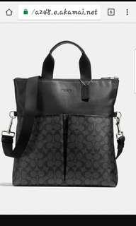 Brand New Dark Brown Coach Business Tote Messenger Bag
