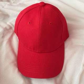 🌸BRANDNEW🌸 Unisex Plain Red Baseball Hat / Cap