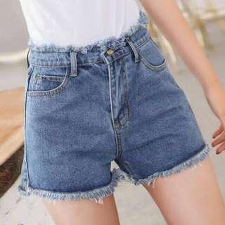 High waist denim shorts / denim shorts / black denim shorts / blue denim shorts