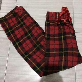 Red comfy pants