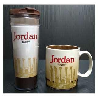【9/1前任兩件折扣250】STARBUCKS 星巴克 JORDAN 約旦 城市杯 馬克杯 隨行杯 一套不分售