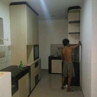 Kitchen sett, lemari baju, lemari pakaian, bacdrobe tv