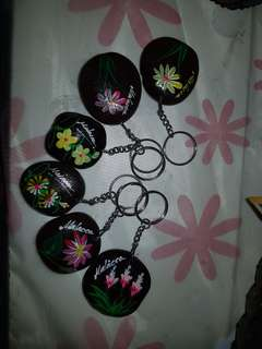 🚚 Hand drawn seed key chains from Malacca