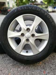 Sports rim myvi se 14 inch tyre 70% *mora mora 300*