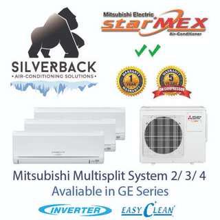 Mitsubishi Aircon (2 ticks) - Brand new with installation