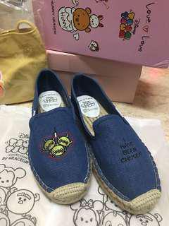 三眼仔 tsum tsum grace gift 布鞋 25.5cm 草鞋 台灣品牌 牛仔布 大碼鞋 40碼 41碼