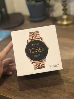 FOSSIL 智能錶 鍊錶 金