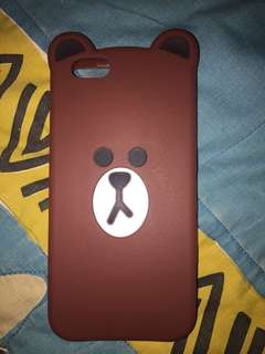 Case iphone 6 silicon brown